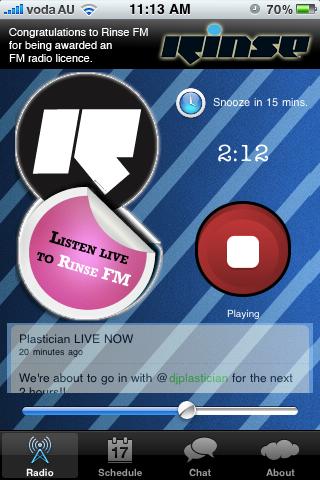 Rinse FM iPhone App